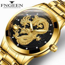 $enCountryForm.capitalKeyWord Australia - FNGEEN Watch Man 2018 Top Brand Luxury Gold Dragon Watches Steel Waterproof Quartz Wrist Watches Male Clock Hodinky Men's Watch Reloj Hombre