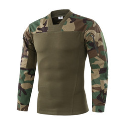 China Camouflage colors US Army Combat Uniform military shirt cargo multicam Airsoft paintball tactical cloth with Long Sleeve T Shirt cheap airsoft tactical uniform suppliers