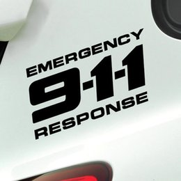 Discount car tuning stickers - Car Sticker 911 Emergency Response Reflective Vinyl Tuning Auto Motorcycle Decal