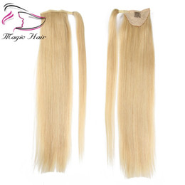 China Evermagic Ponytail Human Hair Remy Straight European Ponytail Hairstyle 50g 100% Natural Hair Clip in Extensions cheap extension hairstyles suppliers