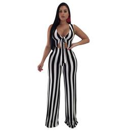 9a67128d7b6 Fashion sexy nightclub wear women jumpsuits romper 2018 new arrival striped  sleeveless deep v bow straight full length jumpsuit