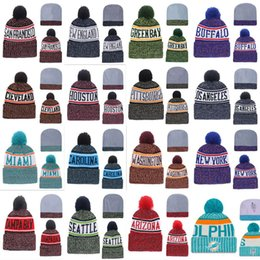 Football Beanies Embroidery Sports winter side line patriots Eagles  Steelers 49ers Packers chiefs warm caps Knitted Hats 16bd1f4c8566