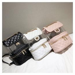 $enCountryForm.capitalKeyWord Australia - Laser bag shoulder bag female 2018 new transparent bag street trend ins Korean casual jelly backpack female
