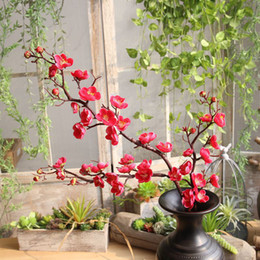 $enCountryForm.capitalKeyWord NZ - Artificial Long branch plum flower blossoms Silk Artificial flowers plastic stem tree branch Home table Decor Wedding Decoration
