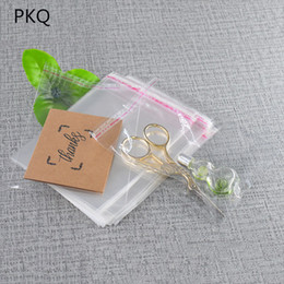 $enCountryForm.capitalKeyWord Australia - Wholesale 1000pcs lot Useful Small size Clear Plastic Bags Self Adhesive Seal Jewelry Gift Package Opp Bag 5C thickness