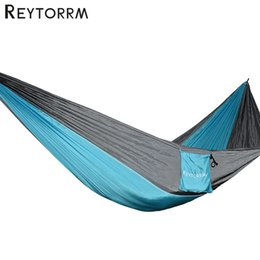 Relaxing Beds Australia - Adult Sleeping Hanging Hammock With Two Durable Straps 2 Strength Carabiners Safety Hamac Tree Bed For Relax Comfortable
