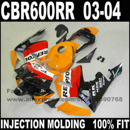 Discount repsol motorcycles - Custom Injection motorcycle parts for 03 04 CBR600RR F5 fairings CBR 600 RR 2003 2004 repsol ABS fahull work