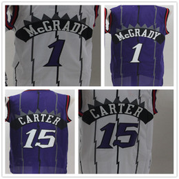 19e80bf9a13c 1 Tracy McGrady 15 Vince Carter Basketball Jersey Shirt Rev 30 New Material  Uniforms Retro Top Quality Men Jerseys