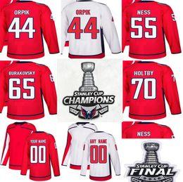Cheap 2018 Stanley Cup Final Champions Washington Capitals 44 Brooks Orpik  55 Aaron Ness 65 Andre Burakovsky 70 Braden Holtby Hockey Jerseys 0d474c93e