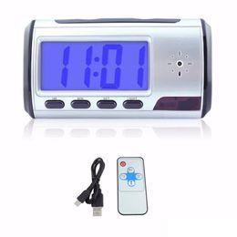 Dvr clock online shopping - Professional Digital Clock mini Camera with Remote Control Motion Detection Clock MINI DV DVR mini camcorder Clock voice video camera