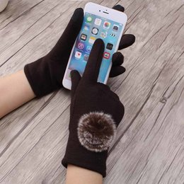 ba08487c044aa 8 Photos Thick Warm Ladies Gloves Australia - Women Warm French Style Gloves  Winter Cashmere Glove Lady Elegant