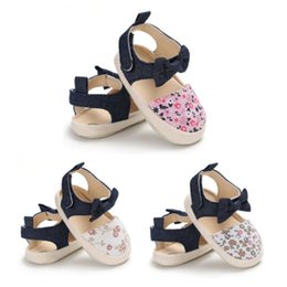 $enCountryForm.capitalKeyWord Australia - Infant Baby Girl Soft Sole Bowknot Shoes Anti-slip Summer Casual Crib Shoes Baby Poka Dots Flora Summer Canvas Sandals