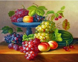Wall Sticker Fruits Australia - crafts home decor mural wall stickers Fruit tray unfinished cross stitch DIY 5D diamond painting embroidery mosaic full diamond