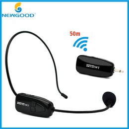 Discount microphone plugs - 2.4G Wireless Microphone Headset MIC Megaphone Loudspeaker 2 in 1 Handheld Portable for Speach Conference 3.5mm Plug Rec