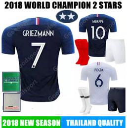 f495b0671ae KIDS 2019 WORLD CUP Soccer JerseyS PAYET DEMBELE MBAPPE GRIEZMANN KANTE  COMAN calcio football KITS Belgian SHIRTS 2 stars SR