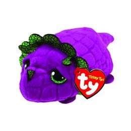 ab4a170bd44 TY Beanie Boo teeny tys Plush -cat seal dog owl deer 10cm Ty Beanie Boos Big  Eyes Plush Toy Doll Purple Panda Baby Kids Gift