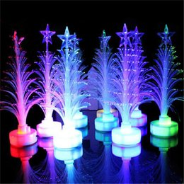 $enCountryForm.capitalKeyWord Canada - Colorful LED Fiber Christmas Tree Light Colorful Illuminous Flashing Xmas Tree Night Light Lamp Outdoor LED Christmas Light Decorations