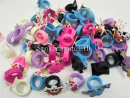 Discount new vape band - In Stock New Styles Silicone Vape Band Beauty Cartoon Decorative Ring Colorful Silicon Rings Fit All above 18mm Mods RDA