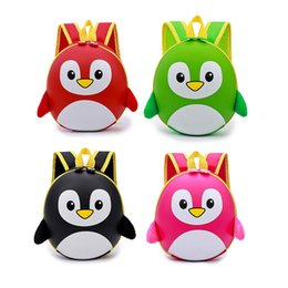 Discount toddlers boy bags - 5 colors 3D Cartoon Bags for Toddler Kids Waterproof Penguin Children Backpack For Boys School Bags mochila escolar MMA4