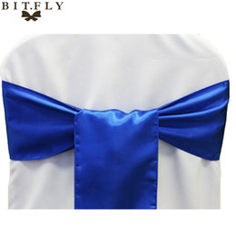 $enCountryForm.capitalKeyWord NZ - sashe shoes 1pcs Wedding Decoration Satin Sashes Tiffany Blue Gold Satin Chair Sashes Bow Tie for Hotel Marriage Banquet Chair Bow
