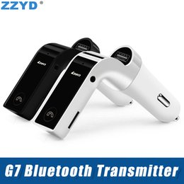G7 bluetooth online shopping - ZZYD Car G7 Bluetooth Transmitter Bluetooth Wireless Car Kit Handsfree MP3 FM Adapter Transmitter With USB Car Charger