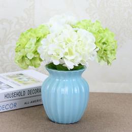 46 cm * 15 cm Alta simulación grande flor de la hortensia flor de seda artificial única decoración de la boda arreglo flor falsa en venta
