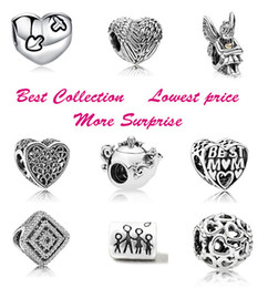 Wholesale Best Price Heart Spirits Best Mom Family Teapot Mouse Silver Charm Beads Fits European Pandora Style Jewelry Bracelets Necklace
