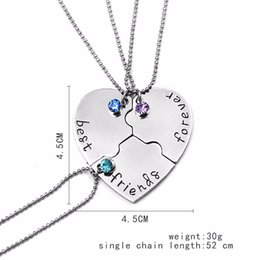 Pendant best friends forever online shopping - Best Friend Forever Statement Necklace Sets Pieces Puzzle Broken Heart Necklaces Pendants BFF Collier Friendship Creative Gift