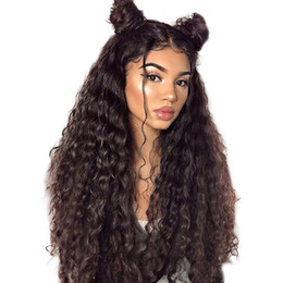 $enCountryForm.capitalKeyWord UK - Whloesale Virgin Hair Water Wave Lace Front Wigs with Baby Hair Brazilian Glueless Lace Front Human Hair Lace Wigs for Black Women