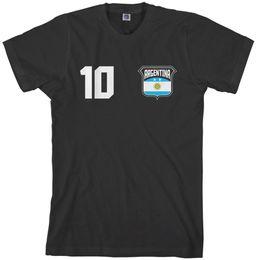 05825989e Threadrock Men s Team Argentina Soccer T-shirt football Funny free shipping  Unisex Casual tee gift