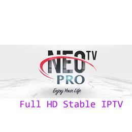 Vente en gros Neotv Iptv abonnement Live tv 1800 canaux français arabe Europe espagnol italien Iptv Neopro Neo un an