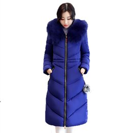 Womens Parkas Canada - 7XL Thicker Big Fur collar Plus Size Winter Coat Down Jacket Womens 2018 Long Cotton Female Jackets Parkas manteau femme hiver