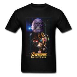 3238f7593 NOVA Marvel Vingadores Infinito Guerra Thanos Camisa Dos Homens Comic  Gráfico Camisa Dos Homens T 2018 nova Moda Impresso Elegante Rodada