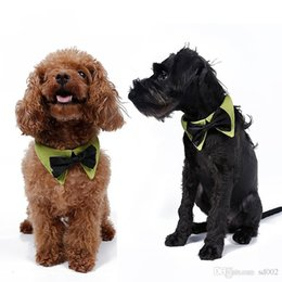 summer dog collars 2019 - Exquisite Puppy Tie Two Color With Cotton Pet Triangle Towel Useful Dog Collar Pets Supplies Hot Sale 5dr ii discount su
