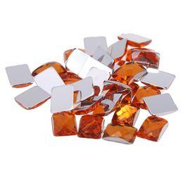 Orange color Craft Art DIY Rhinestones 6x8mm Retangle Gems Flatback Earth  Facets Acrylic Rhinestone Strass High Shine Nail Art Stones 834d1bfeb4bd