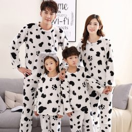 455fe22edc Christmas family pajamas warm pjs set family look matching outfits xmas cow sleepwear  bathrobes mother father baby boys girls