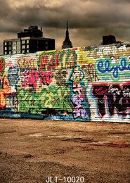 backdrop city NZ - color graffiti photographic background city street personality backdrops dirt road backgrounds vinyl customize for photo studio
