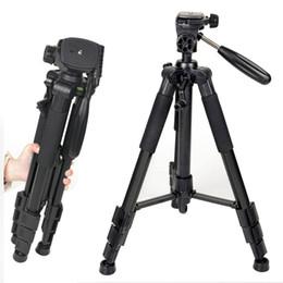Dslr Cameras Bags Australia - Professional Aluminum Alloy SLR Three Camera Folding Portable Tripod with Ball Head Bag Travel for DSLR Black Q111