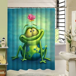 $enCountryForm.capitalKeyWord NZ - Cartoon Frog Shower Curtain Polyester Eco-friendly Waterproof Mildewproof Fabric Home Bath Products For Kids