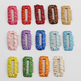 $enCountryForm.capitalKeyWord Australia - Dog Grooming Wedding Funny Accessories Dog Comb Hairpin BB Hair Clips 9 teeth pure hand around baby safety 100pcs lot