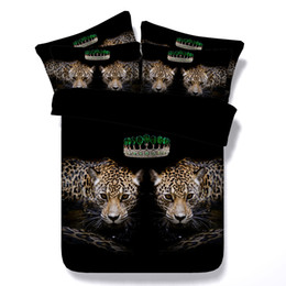 $enCountryForm.capitalKeyWord Australia - 3D Green crown Duvet Cover leopard Bedding Sets black Bedspreads Holiday Quilt Covers Bed Linen Pillow Covers California King for men boys