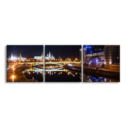 Art Canvas Prints Australia - 3 pieces high-definition print night view canvas prints painting poster and wall art living room picture CSYJ3-010