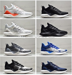AlphA bounce sneAkers online shopping - Cheap Sale AlphaBounce M V3 Alpha bounce Running Shoes for Top quality s Black White Blue Men Women Outdoors Sneakers Size