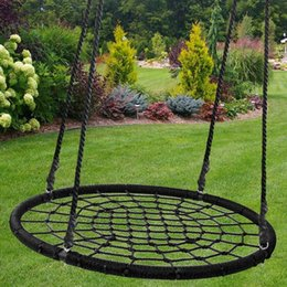 "Wholesale 40"" Web Swing Playground Tree Outdoor Hanging Play Slide Seat PE Net Rope"