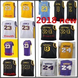new arrival 9eed3 12333 2018 new Los Angeles 23 LeBron James jersey 24 Kobe Bryant 8 8 Kobe Bryant  Youth Men s Swingman Basketball Jerseys