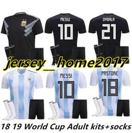 $enCountryForm.capitalKeyWord NZ - 18 19 Argentina kit Jersey Home DYBALA soccer Shirt Messi Aguero Di Maria Child football BOYS away black Argentina kids 2018 Soccer Jersey