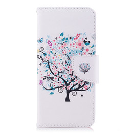Wholesale Little Tree Cell Phone Case TPU Back Cases PU Leather Cover Wallet Card Slot Money Holder Models for Option