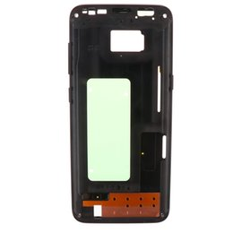 metal middle frame housing chassis NZ - Middle Frame For Samsung Galaxy S8 Plus G955 G955A G955F Mid Bezel Metal Frame Housing Chassis With Parts Replacement +Side button
