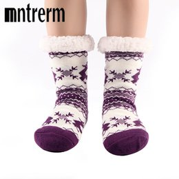 $enCountryForm.capitalKeyWord NZ - Mntrerm 2017 Style Keep Warm Floor Socks Cartoon Deer Antiskid Winter Room Socks high quality home shoes As Christmas Gifts
