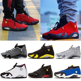618c4c7c2c9e 14s Red Wolf Grey Basketball shoes Indiglo Black Toe Black Grey Last Shot  Thunder Mens Basketball Shoes For Sale Men Athletic Sneakers